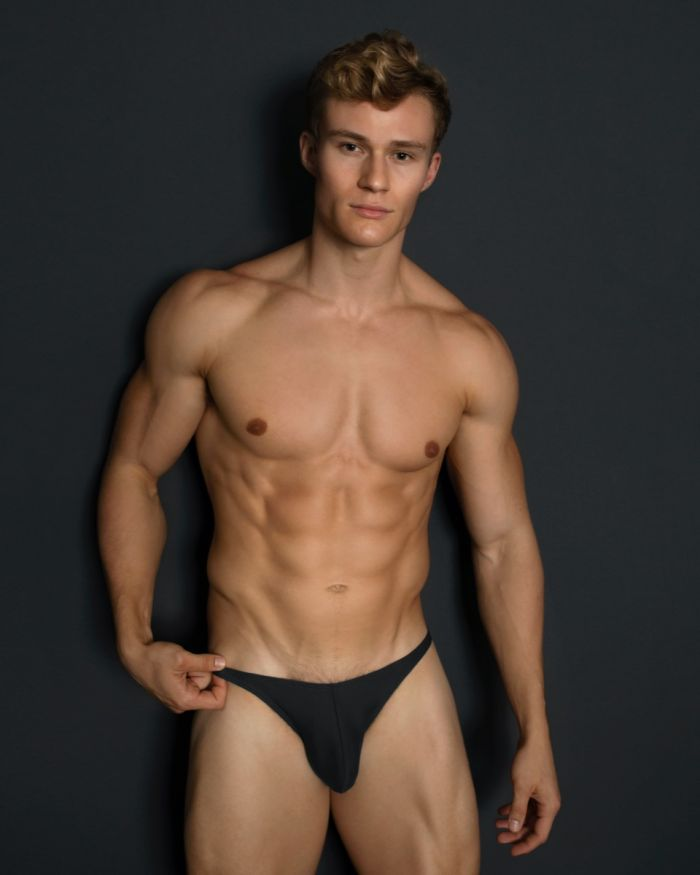 Mens Enhancing Pouch Swim Bikini Black