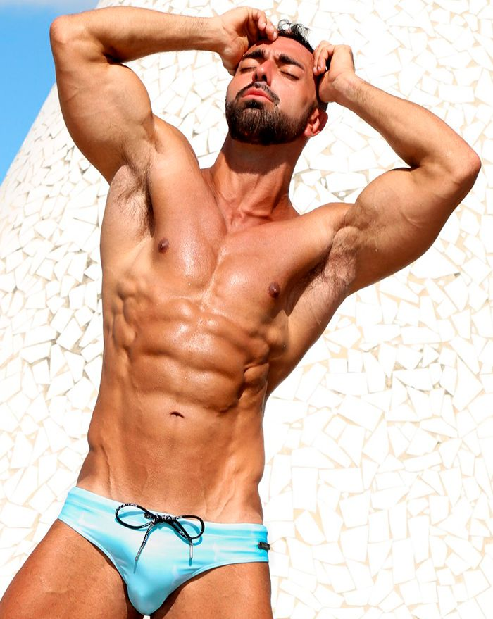 Baby Blue Logo Surfer Brief
