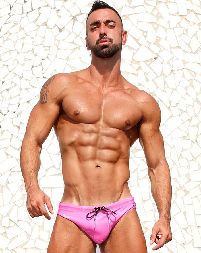 Magenta Logo Surfer Brief